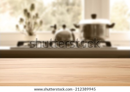 yellow top and kitchen  - stock photo