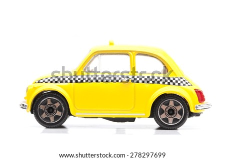 Yellow Toy Taxi - stock photo
