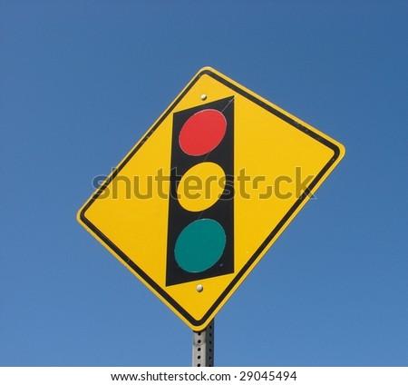 Yellow Traffic Light Sign - stock photo