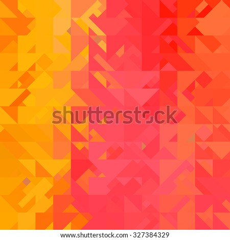 yellow triangle background - stock photo