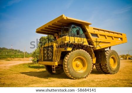 yellow truck - stock photo