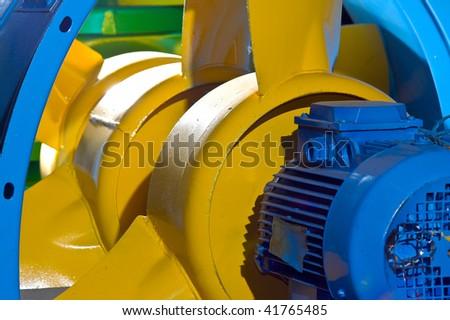 Yellow ventilator - stock photo