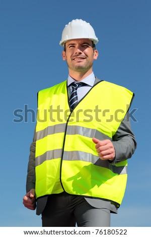 yellow vest - stock photo