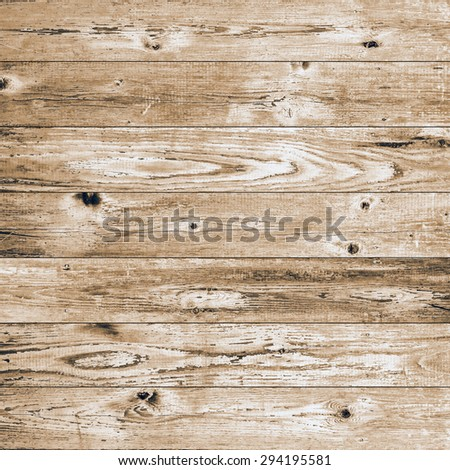 Yellow vintage wood texture floor - stock photo