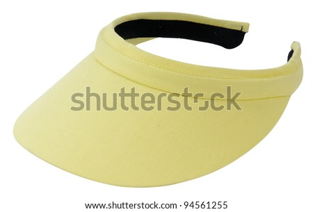 yellow visor - stock photo