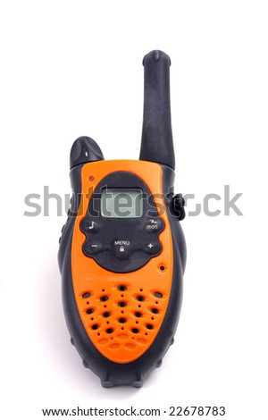 Yellow walkie talkie - stock photo