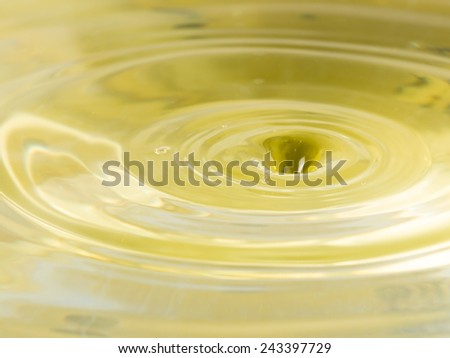yellow water and funnel formed by abandoned drops - stock photo