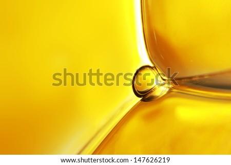 Yellow water bubbles abstract light illumination. - stock photo