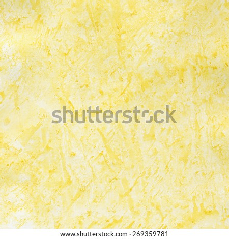 Yellow watercolor background - stock photo
