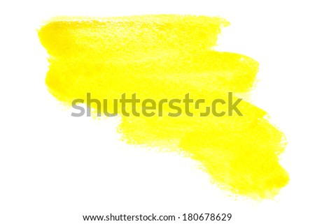 Yellow watercolor brush strokes