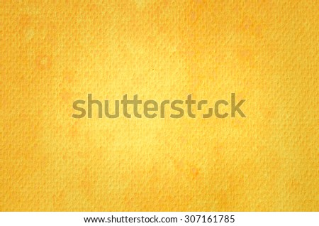 yellow watercolor painted texture background - stock photo