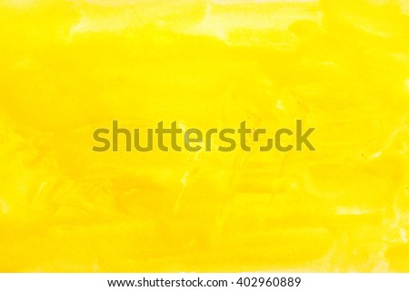 yellow watercolors on textured paper surface - design element - abstract background trend color citron fizz - stock photo