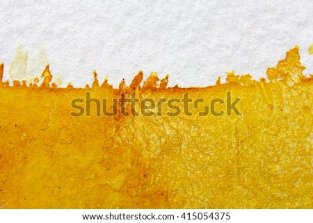Yellow Watercolour Background 1