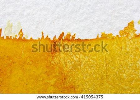 Yellow Watercolour Background 1 - stock photo