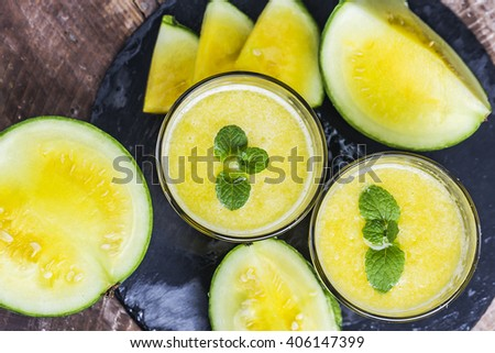 Yellow watermelon drink
