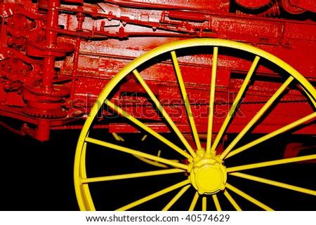 Yellow Wheel - stock photo