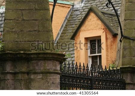 Yellow Window - stock photo