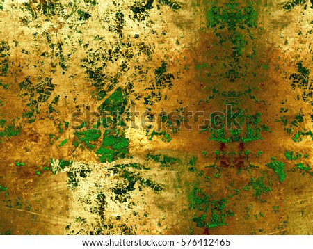 Yellow with green grunge texture