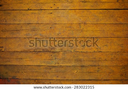Yellow wooden board texture - stock photo
