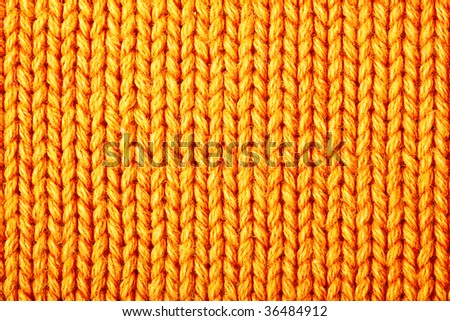 Yellow wool texture, bay be used as background - stock photo
