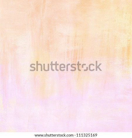 yellowed light grunge pink paint background texture - stock photo