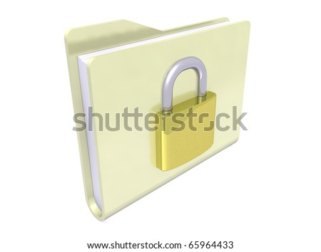 yellows folders paper icon on white background