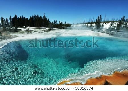 Yellowstone - stock photo