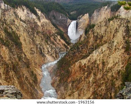 Yellowstone Canyon - stock photo