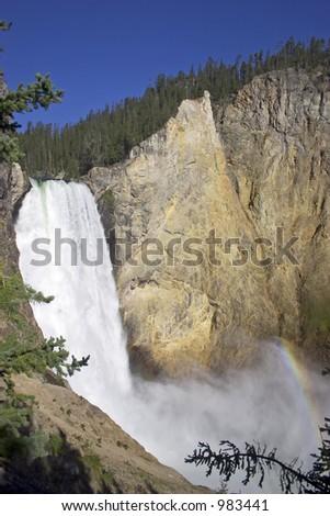 Yellowstone Falls - stock photo