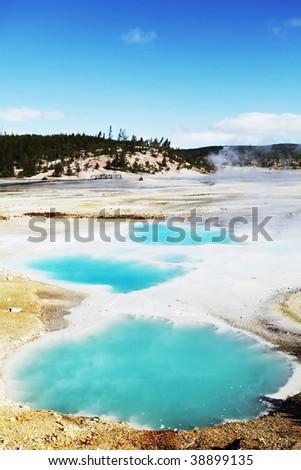 Yellowstone formation - stock photo
