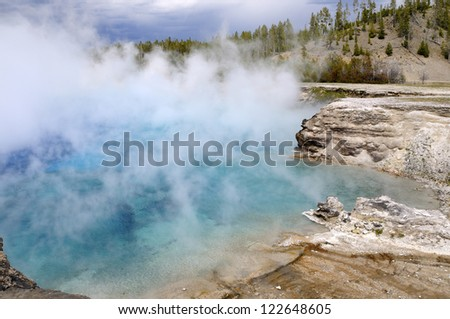 Yellowstone Geyser Basin - stock photo