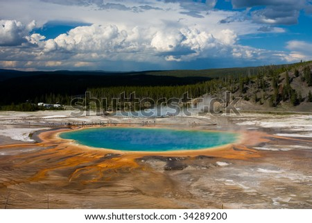 Yellowstone Grand Prismatic - stock photo