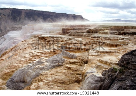 Yellowstone Mammoth Hot Springs - stock photo