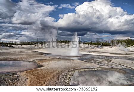 Yellowstone National Park - stock photo