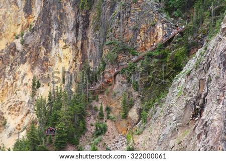 Yellowstone National Park in Wyoming - stock photo