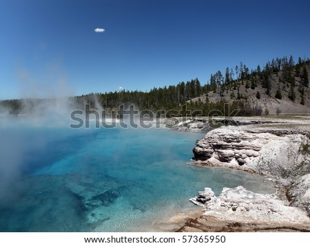 Yellowstone National Park in Wyoming - stock photo