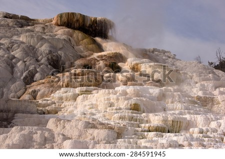 Yellowstone National Park is a national park located primarily in the U.S. state of Wyoming. - stock photo