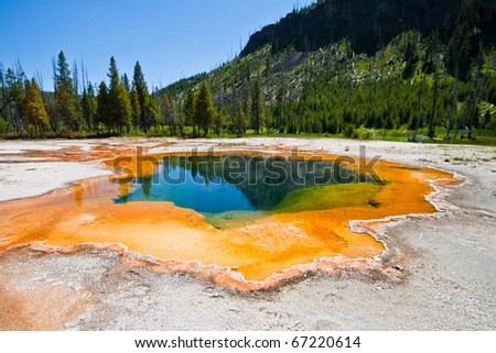 yellowstone national park - the emerald pool