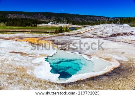 Yellowstone National Park, Wyoming, USA - stock photo