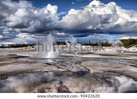 Yellowstone, Norris Basin - stock photo