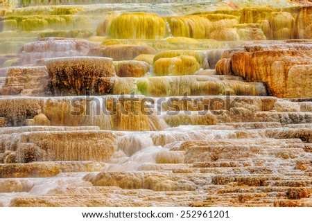 Yellowstone Palette - stock photo