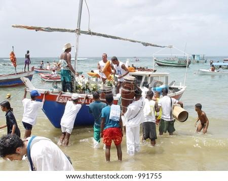 Yemanja Party, Afro-Brazilian Culture - stock photo