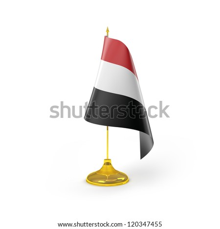 Yemen Flag Detail Render - stock photo