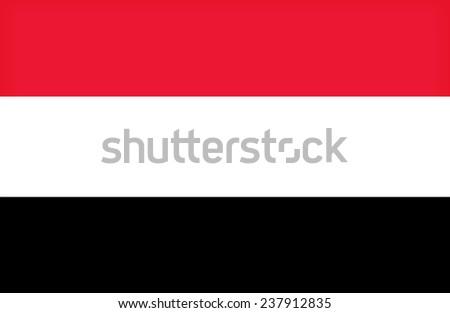 Yemen flag pattern - stock photo
