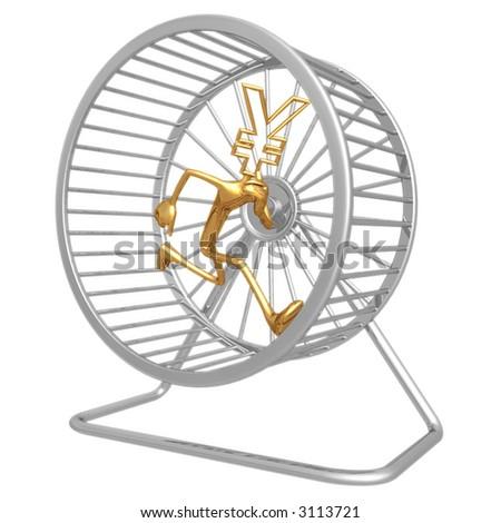 Yen Hamster Wheel Runner - stock photo