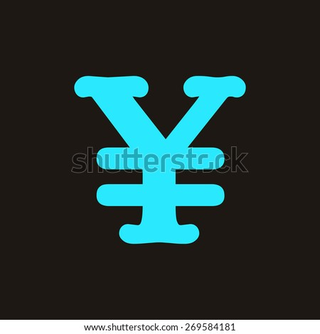Yen symbol icon. - stock photo