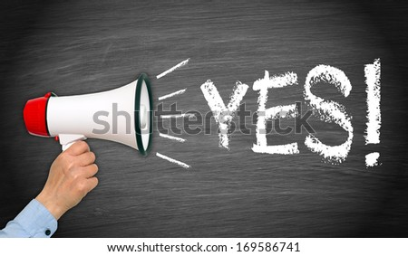 YES ! - stock photo