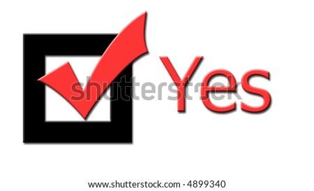 Yes - stock photo