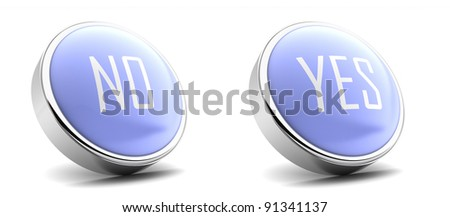 yes and no button - stock photo