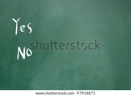 yes and no choice - stock photo